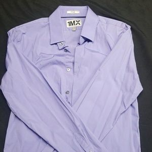 EXPRESS Men's fitted button down shirt